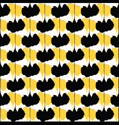 Yellow and black abstract geo shapes decor vector