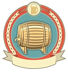 beer barrel label vector image