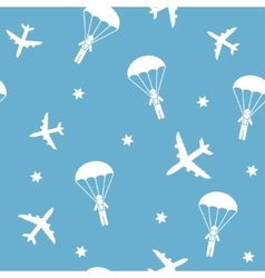 Cartoon Airplane seamless pattern vector image