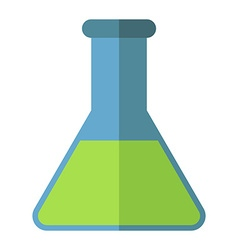 Conical chemical flask isolated vector image vector image