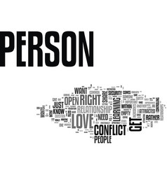 is this the right person for me text background vector image vector image