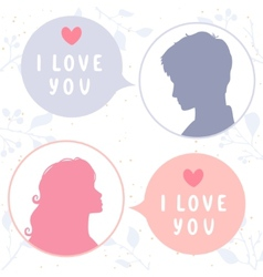 love chat vector image