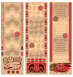 banners with ancient american ornaments vector image vector image
