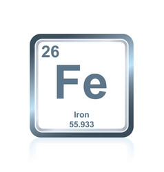 chemical element iron from the periodic table vector image vector image