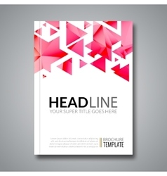Cover report colorful triangle geometric vector image