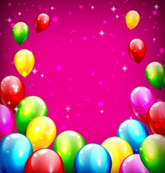 Multicolored inflatable celebration balloons like vector image vector image