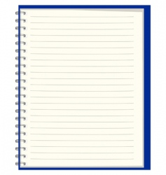 notebook for records vector image