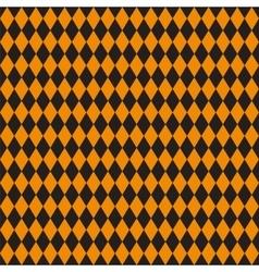 Seamless texture of rhombuses Black and orange vector image