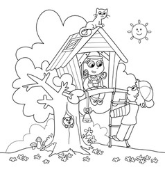 treehouse vector image vector image
