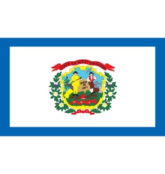 West Virginia flag vector image