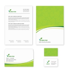 Eco green leaf logo template vector image