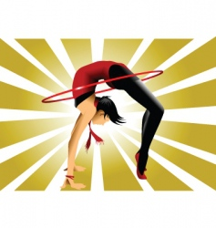gymnastic bridge vector image vector image