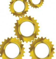 machine cogs vector image vector image