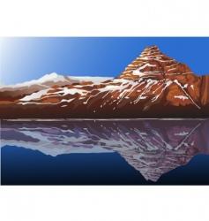 mountain rock vector image