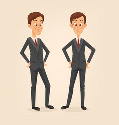 office worker man character set vector image vector image