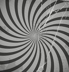 Vintage spiral grey background with blots vector image vector image