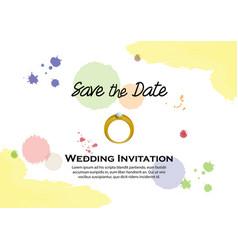 watercolor wedding invitation vector image vector image