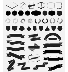 Big grunge textured set of vintage styled icons vector image vector image