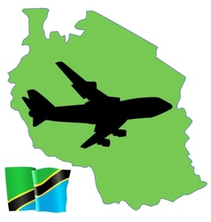 fly me to the Tainzania vector image vector image