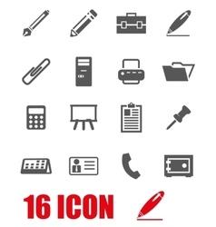 grey notes icon set vector image