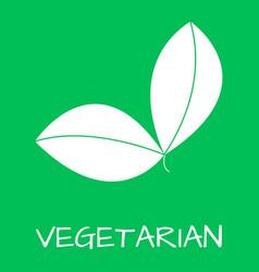 vegetatian label food intolerance symbols vector image vector image