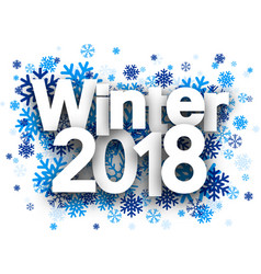winter 2018 background with snowflakes vector image
