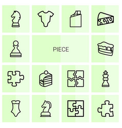 14 piece icons vector image