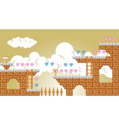 2D Tileset Platform Game 5 vector