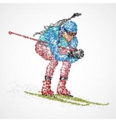 abstract biathlon sportsman vector image