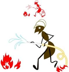 Ant fireman vector