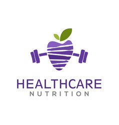 Avocado gym logo wellness healthy food diet fresh vector