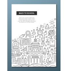 Back to School - line design brochure poster vector