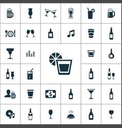 Bar icons universal set for web and ui vector