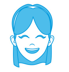beautiful woman face smiling vector image