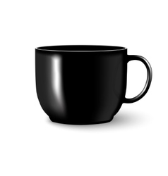 Black mug cup isolated vector