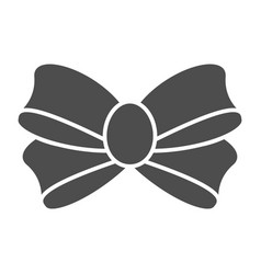 Bow for gift solid icon knot vector