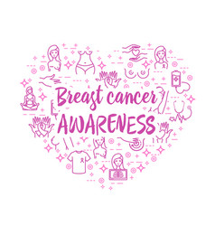 breast cancer awareness icons vector image