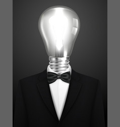 Business concept businessman with a lamp head vector