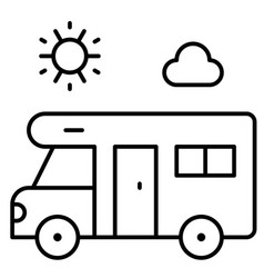 camping van icon summer vacation related vector image
