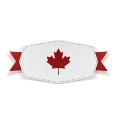 Canada flag symbol realistic banner vector