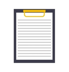 clipboard isolated icon design vector image