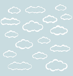 Clouds icons clouds in the sky in the background vector