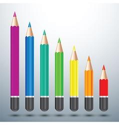 Color pencil set vector