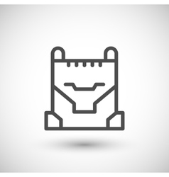 Concrete bucket line icon vector