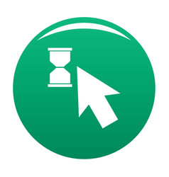 cursor wait icon green vector image