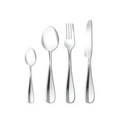 cutlery in silver vector image