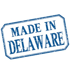 Delaware - made in blue vintage isolated label vector