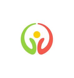 eco symbol round logo vector image