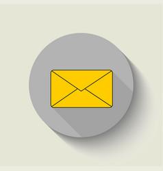 envelope - icon envelope yellow flat design vector image