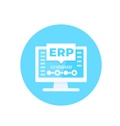 erp software enterprise resource planning vector image
